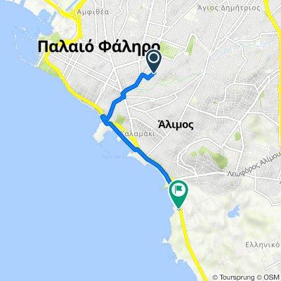 Eikostis Ogdois Oktovriou 21–23, Palaio Faliro to Leoforos Poseidonos, Elliniko