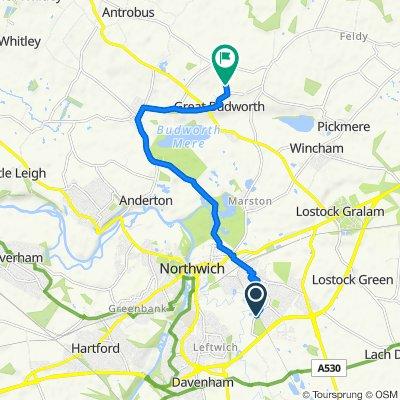 96 Medlock Street, Northwich to New Westage Farm, Heath Lane, Northwich