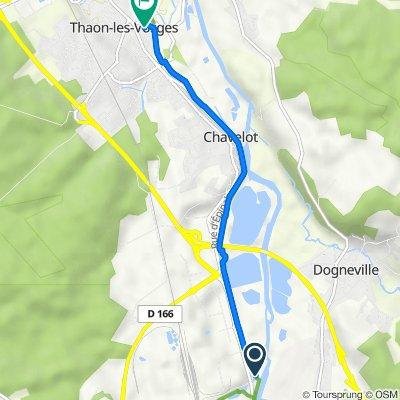 De 66 Rue de Lorraine, Golbey à 16 Rue Chanzy, Thaon-les-Vosges