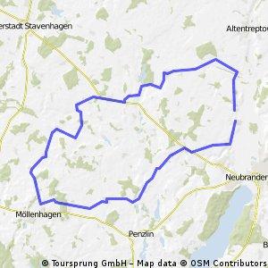 abwechslungsreiche Route durch die Landkreise Demmin und MST