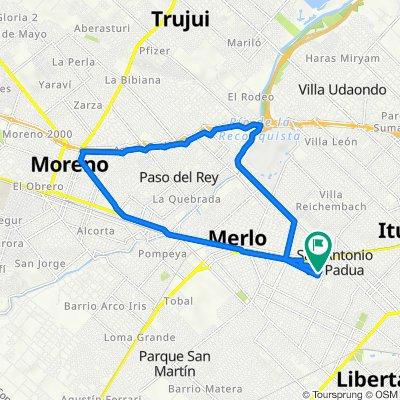De Calle Julio A. Roca 1087, Merlo a Calle Julio A. Roca 1087, Merlo