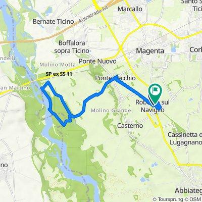 Da Via Roma 35, Robecco Sul Naviglio a Via Adua 17, Robecco Sul Naviglio