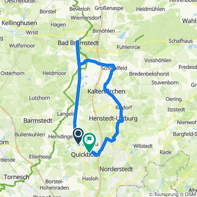Kieler Straße, Quickborn nach Feldbehnstraße 95, Quickborn
