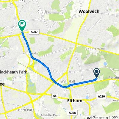 Park Lodge, Eltham Park Gardens, London to 186 Langton Way, London
