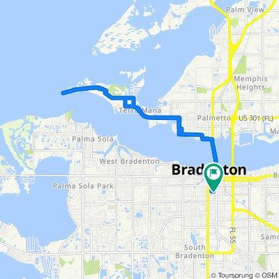 933 12th St W, Bradenton to 1122 Tenth St W, Bradenton