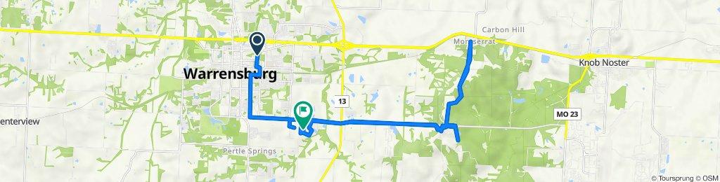 507 Streck Ln, Warrensburg to 1216 Nottingham Dr, Warrensburg