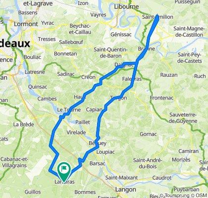 Boucle Saint Émilion depuis Landiras