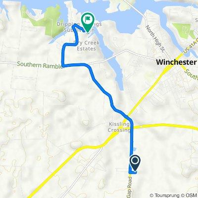 134 Susie Dr, Winchester to 325 Oak Cir, Winchester