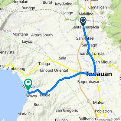 Pan-Philippine Highway 106, Santo Tomas to Unnamed Road, Tanauan