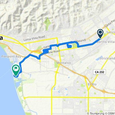 10225 Telephone Rd, Ventura to 1449 Spinnaker Dr, Ventura