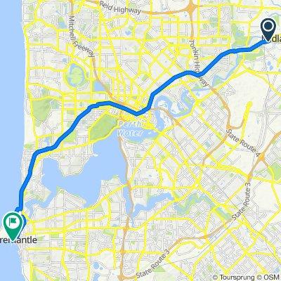 Great Eastern Highway, Woodbridge to 36 Mouat Street, Fremantle