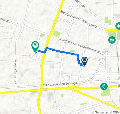 De Calle Marmolejo 214, Celaya a Avenida Quetzalli 605, Celaya