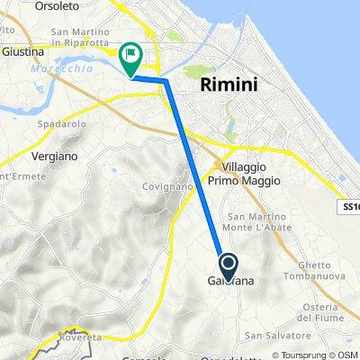 Percorso da Via Raffaello Lambruschini 25, Rimini