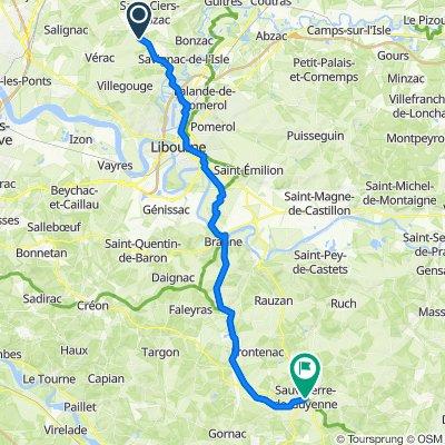 De 1bis Chemin de Fournet, Galgon à Rue du 8 Mai, Sauveterre-de-Guyenne