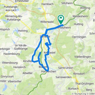 De 6 Rue de Hambach, Herbitzheim à 6 Rue de Hambach, Herbitzheim