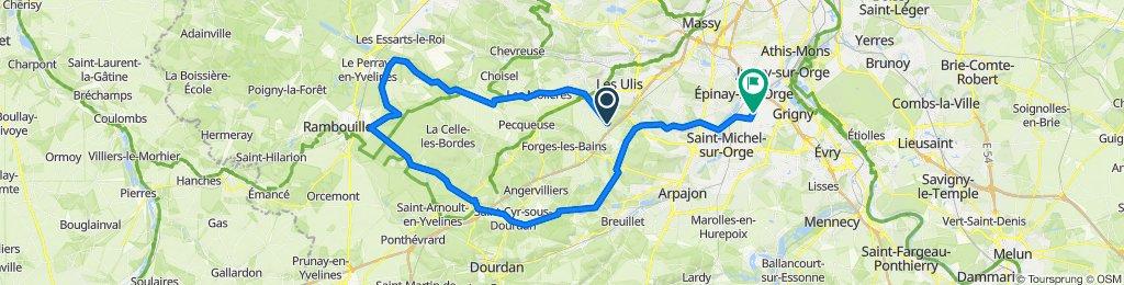 De 6 Place de l'Église, Janvry à 3B Avenue des Marguerites, Villemoisson-sur-Orge
