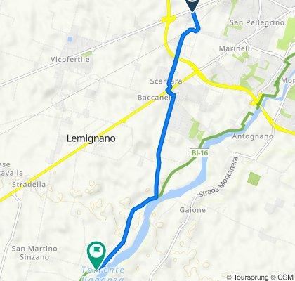 Da Via Martiri della Liberazione, Parma a Strada Farnese 18, Collecchio