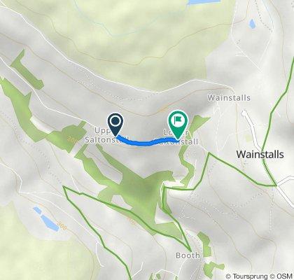 Saltonstall Lane, Wainstalls, Halifax to Saltonstall Lane, Wainstalls, Halifax