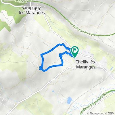 De 10 Clos des Fontaines, Cheilly-lès-Maranges à 6 Rue du Lavoir, Cheilly-lès-Maranges