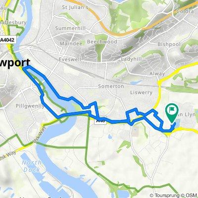 3–99 Lydney Walk, Llanwern, Newport to 57–133 Spencer Way, Llanwern, Newport