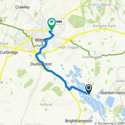 B4449, Hardwick, Witney to 71, Pensclose, Witney