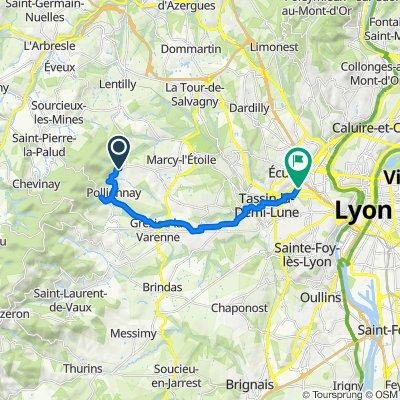 1525–1559 Route de Valency, Pollionnay to 22 Avenue Gambetta, Tassin-la-Demi-Lune