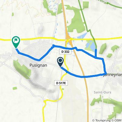 De Route Nationale, Pusignan à Chemin de la Gaîté, Pusignan