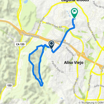 Route from Canyon Vistas, Aliso Viejo