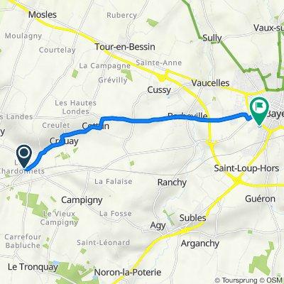De 82 Impasse du Saut Bénard, Crouay à 5–17 Chemin des Marettes, Bayeux