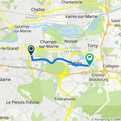 De 10 Avenue André-Marie Ampère, Champs-sur-Marne à 25 Boulevard Camille Saint-Saëns, Lognes