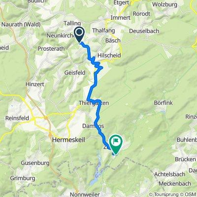 Gassenweg 3, Lückenburg to Brunnenstraße 21, Neuhütten