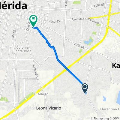 De Calle 60-C 623, Kanasín a Calle 36-A 540, Mérida