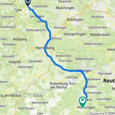 Elsterweg 2, Althengstett nach Freiherr-vom-Stein-Straße 16, Mössingen