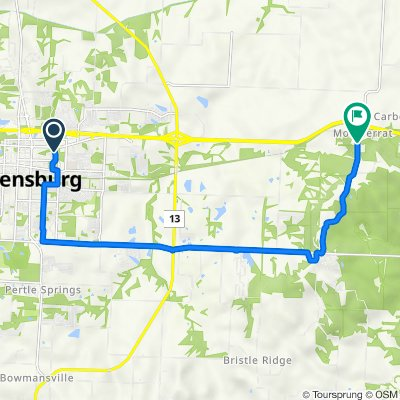 507 Streck Ln, Warrensburg to 67–109 NE 641, Knob Noster