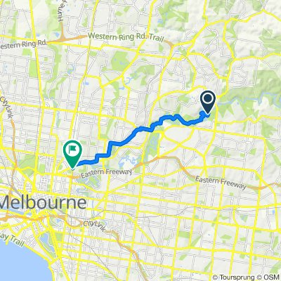 Route to Hoddle Street, Clifton Hill
