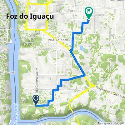 De Avenida General Meira, 4216–4280, Foz do Iguaçu a Rua Geraldino Manoel de Souza, 88, Foz do Iguaçu