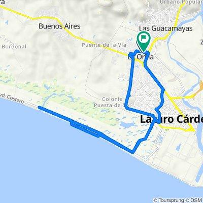 De Calle Tucanes, La Orilla a Calle Águilas, La Orilla