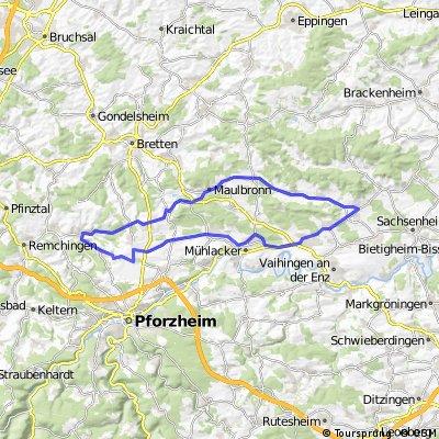 60 km Mühlacker-Königsbach-Stein-Maulbronn