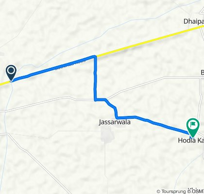 State Highway 12A to Unnamed Road, Hodla Kalan