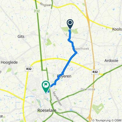 Beverenstraat, Lichtervelde naar Handelsstraat 82, Roeselare