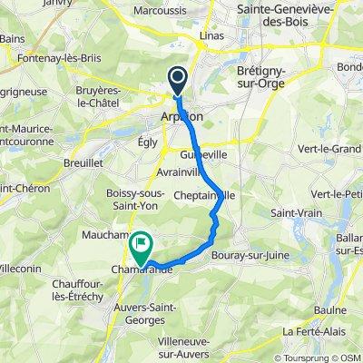 De 4B Rue du Pont d'Avignon, Arpajon à 1 Rue de la Gare, Chamarande