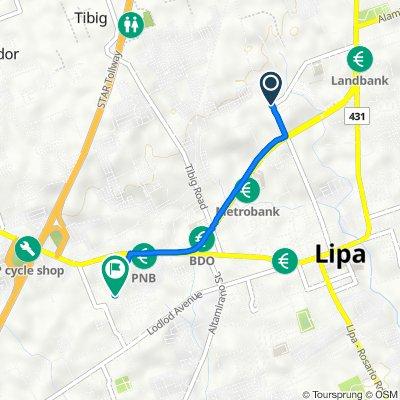 Route to M. Lina, Lipa