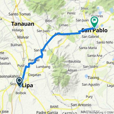 M. Lina, Lipa to Dagatan Boulevard, San Pablo City