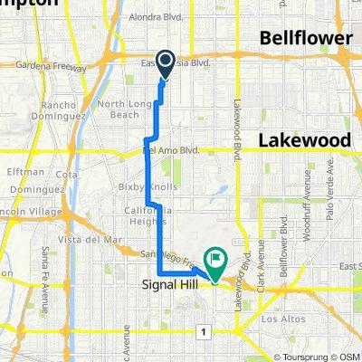 1911 E 63rd St, Long Beach to 2600 Redondo Ave, Long Beach