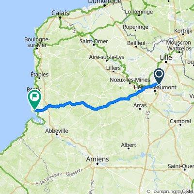 De 6 Impasse Archimède, Oignies à 34 Chemin des Garennes, Saint-Quentin-en-Tourmont