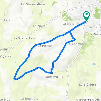 Itinéraire à partir de Rue du Vert Aiguillon 42, Aubigny-Les Clouzeaux