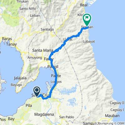 Unnamed Road, Santa Cruz to Siniloan - Famy - Real - Infanta Road