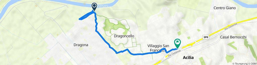 Da Via Sarnico 110, Roma a Viale dei Romagnoli 2109, Acilia