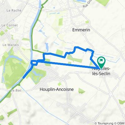 De 20 Rue d'Emmerin, Noyelles-lès-Seclin à 18 Rue d'Emmerin, Noyelles-lès-Seclin