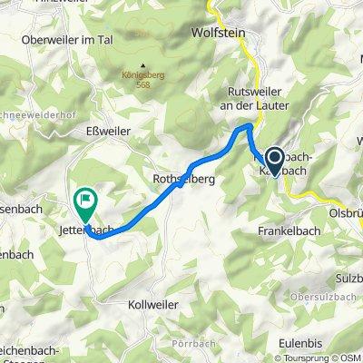 Kapellenweg 27, Kreimbach-Kaulbach nach Hauptstraße 40, Jettenbach